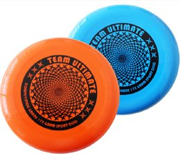 Compra Online Juegos para niños-Venta al por mayor-1 pieza Profesional 175g los 27cm Ultimate Frisbee Flying disco disco volador al aire libre ocio hombres mujeres niño niños al aire libre juego