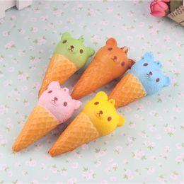 Crème glacée animale en Ligne-8CM Jumbo Kawaii Mignon Squishy Rilakkuma Yummy Bear Ice Cream Animal Slow Rising Bread Bun Cake Sweet Scented Kid Fun Toy Gift