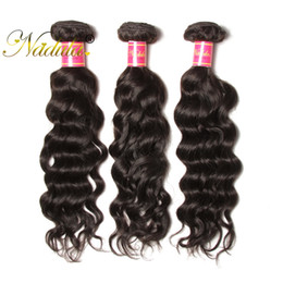 Nadula Water Wave Hair Weaves 8-26inch Indian Hair Bundles Top Virgin Human Hair Extensions Machine Double Weft Can Be Dyed and Bleached