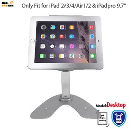Wholesale tablet pc stand Anti Theft Security Kiosk Stand for iPad Air Pro Rotation Base Desktop POS Enclosure Holder with Lock
