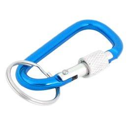 Wholesale Aluminum Alloy Screw Gate Lock Keyring Carabiner for Hiking Camping