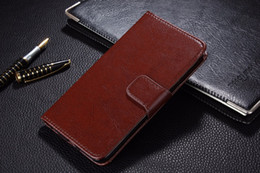 30pcs Genuine Leather Case for iPhone 5 5S SE Flip Stand Design Phone Back Cover Wallet with Card Slot Black Brown White