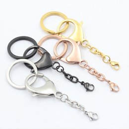 Panpan Jewelry! Wholesale keychains 316L stainless steel fashionable bag clip silver  gold  rose gold  black keychain