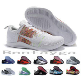 Wholesale 2017 Kobe XI Elite Low Basketball Shoes Men Original New Arrival Sneakers Cheap Retro Weaving Kobe Sport Boots Size Eur