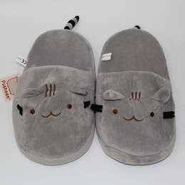 2017 chaussures à chaussures mignonnes Nouveau 2016 Cute Pusheen Cat Plush Chaussures Indoor Kawaii Cartoon Stuffed Chaussures Adulte Chaussures d'hiver 11