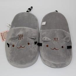 Promotion pantoufles chaussures mignonnes Nouveau 2016 Cute Pusheen Cat Plush Chaussures Indoor Kawaii Cartoon Stuffed Chaussures Adulte Chaussures d'hiver 11