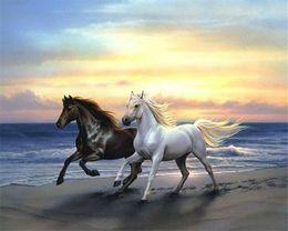 2017 окрашенная лошадь 5D Алмазный вышивки рукоделию поделки Алмазное картины вышивки крестом наборы животное лошадь y0023 полный круглый номер алмаз мозаика Декор скидка окрашенная лошадь