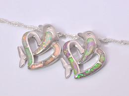Wholesale & Retail Fashion Jewelry Fine White Pink Fire Opal Stone Silver Plated Pendants For Women PJ16021406