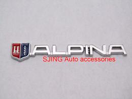 Wholesale Exterior Parts Emblems Special Alpina logo Car Grill Emblem Front Hood grille Badge accessories