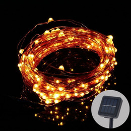 Solar Powered Copper Wire String Light 15M Starry String Lights, Outdoor Waterproof Ambiance Lighting for Outdoor Holiday Party Decoration