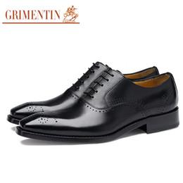 Descuento los hombres hechos a mano de los zapatos oxford GRIMENTIN zapatos de cuero de los hombres de oxford del negocio del cuero de los hombres modificados para requisitos particulares zapatos de vestir de los hombres hechos a mano del diseñador shoesG23
