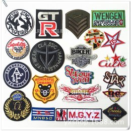 Wholesale Manufacturers direct sales new digital cloth affixed to the clothes decorative stickers micro chapter cloth affixed to the embroidery patch