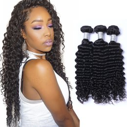 Resika 3Bundles 100g pcs Deep Wave Brazilian Peruvian Malaysian Virgin Hair Weave Cheap Deep Curly Remy Human Hair Extensions