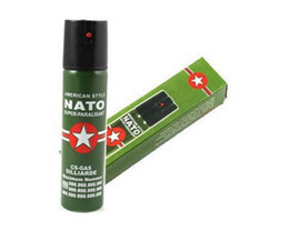 Wholesale 2017 Hot Sell NEW NATO CS GAS ML TEAR GAS PEPPER SPRAY sex maniac Men Women Security self defense Tool