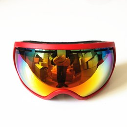 Outdoor goggles Ski glasses Double anti-fog spherical goggles