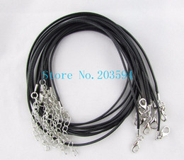 Wholesale 100pcs lot Waxen Cord Necklace 45cm String Necklace With Lobster Clasp 2mm DIY Material Making