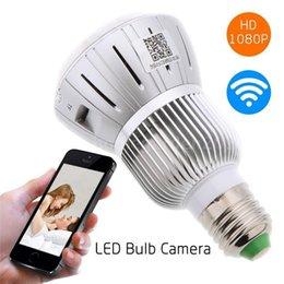 Ampoule IR Night Vision Cam 1080P WIFI HD caméra sans fil cachée H.264 DVR 160 degrés Caméra de sécurité light bulbs for camera on sale à partir de ampoules pour appareil photo fournisseurs