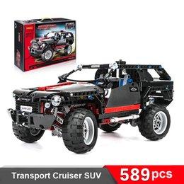 Wholesale Decool Build Blocks Transport Cruiser SUV Racing Car Model Building Block Sets Educational DIY Bricks Toys