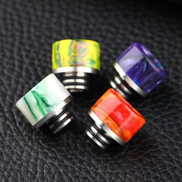 Wholesale Vaporizer TFV8 Epoxy Resin Drip Tips for TFV8 Baby Pretty pattern Mouthpieces for rda Vape Tank