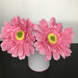 Light Fushia Artificial Silk Daisy Flower Heads 11cm Real Touch Daisy Silk Flowers Chrysanthemum Sunflowers Flowers Wedding Patry Decoration