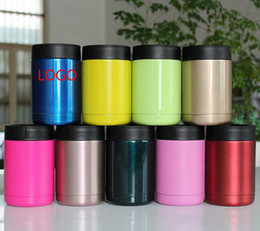 Wholesale 12oz Cooler Stainless Steel Double Wall Vacuum Insulated Thermos Beverage Cooler oz Tumbler Colors