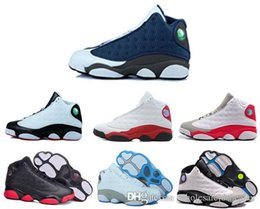 Wholesale 2016 cheap air retro XIII man Basketball Shoes red Bred He Got Game Black Sneaker Sport Shoes Online Sale Size