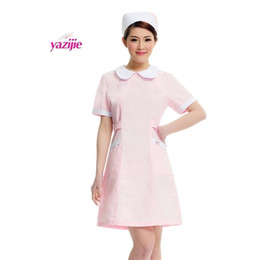 White coat dress nurse short sleeved uniform experiment under drugstore beauty salon work 163