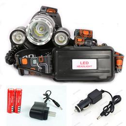 Linterna frontal LED Headlamp 5000 Lumens Head lamp T6 3 LED Headlight head torch edc flashlight 18650 battery Rechargeable pack