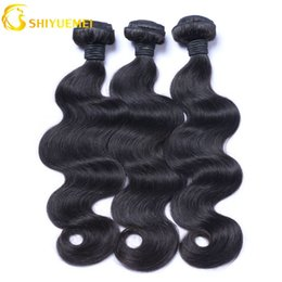Shiyuemei Body Wave Human Hair Bundles With Closure Nature Color For Hair Salon High Ratio Longest PCT 15% Brazilian Hair