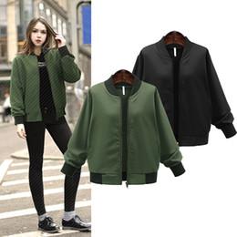 2016 New Hot Women Casual Long Sleeve Zipper Pocket Army Green Black Style Army Green Cool Baseball Uniform Jacket Short Coat