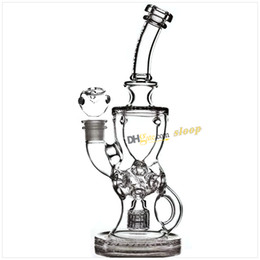 Mothership recycleur en Ligne-Mothership Torus Fab Egg FTK Bong en verre Fab Klien Recycler Verre Water Pipe Recycle Oil Rigs Matrix Perc Hookahs 14.4mm Female Joint
