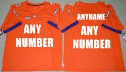 Wholesale 2016 Customized made Clemson Tigers Custom College Football Limited Jersey Orange White Purple