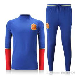 Acheter en ligne Services de l'équipe-Personnalisation de vêtements en gros 16-17 Équipes de football espagnoles Équipement de jogging en espagnol Équipement de formation de l'équipe nationale de football en Espagne qua
