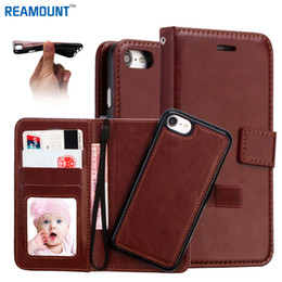 Wholesale Luxury PU Leather Cover for iPhone 7 7 Plus Wallet Magnetic Case 2 in 1 Leather Case for iPhone 6 6 Plus