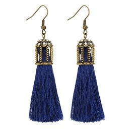 Handmade High quality retro style earrings cotton tassel personality fashion dangle earrings Ethical earrings jewelry gift free shipping