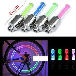 Mini Cyclisme Copious Type Roue Tuyau Valve Cap Spoke Core Gaz Buse Neon LED Clignotant Warning Lampes de sécurité Lampes Accessoires Vélo à partir de roue vélo lumières de soupapes de sécurité fournisseurs