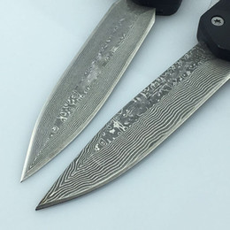 Cutler Combat Troodon A07 Automatic Knives Damascus Steel Double Action Out The Front Knife Outdoor Tactical Survival Hunting Knives
