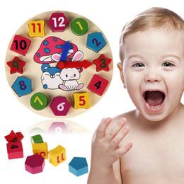 Madera de 12 números coloridos rompecabezas digital geometría reloj bebé educativo reloj de madera del juguete niños niños juguetes regalos desde reloj digital de la geometría proveedores