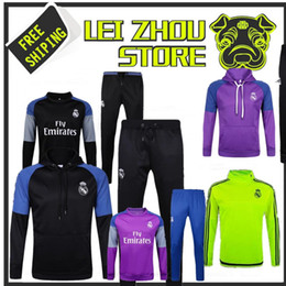 17 18 Soccer tracksuits Best quality survetement football Marseille Real Madrid training suit sweat top chandal soccer jogging football pant
