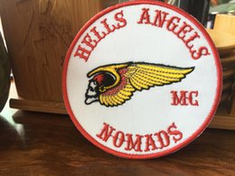 Wholesale Personality Hells Angels Germany Embroidered Iron On Patch Iron On Sew On Motorcyble Club Badge HA MC Biker Vest Patch