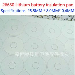 100pcs Lot 26650 lithium battery positive hollow tip insulation pad meson pad 26700 insulation gasket accessories