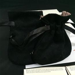 Promotion colliers de perles Noir Bijoux Sacs Sacs Pour Pandox Charm Bead Collier Boucles D'oreilles Anneau Pendentif Emballage Nouveau Arrivée Hot Selling