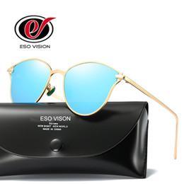 Descuento gafas de sol púrpura Espejo gafas de sol para mujer baratos Polarize gafas de sol venta Designe marca oro gafas de sol para hombre gafas de sol vintage mujer rosa negro morado