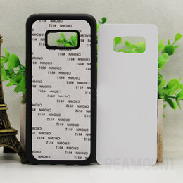Wholesale White Black Transparent 2D TPU Rubber Sublimation Phone Case for Samsung S8 S8 Plus DIY Phone Cover With Aluminum Plate