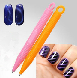 Wholesale Nail Art Tool Magnet Pen for DIY Magic D Magnetic Cats Eyes Polish Manicure Gel D Tips Painting Dotting Magnetic