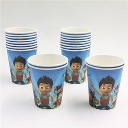 Wholesale New Disposable Cartoon Dogs theme kids boys birthday party paper plate cake dishes paper cups Decoration