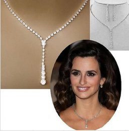 Cheap Wedding Bridal Jewlry Rhinestone Necklace Set Bridal Jewelry Sets Earrings for Women Free Shipping Bridal Accessories