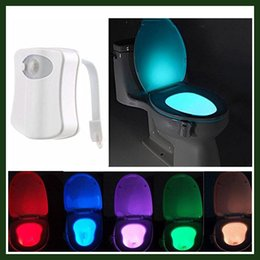 Wholesale Multi Colors Changing Motion Activated Light Sensitive Automatic LED Toilet Nightlight Motion Sensor Bathroom Lamp for Any Toilet