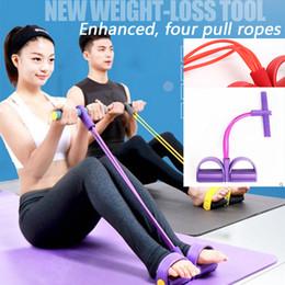Renforcer la corde de tirer 4, la poitrine, le mouvement de la taille mince sit ups équipement de remise en forme de la pédale d'économie d'énergie tirez la corde, pied poitrine (5 couleurs) à partir de énergie ups fabricateur