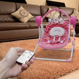 Wholesale 2017 electric rocking baby chair cradle bed electric swing baby cradle Bluetooth mobile control Android IOS system